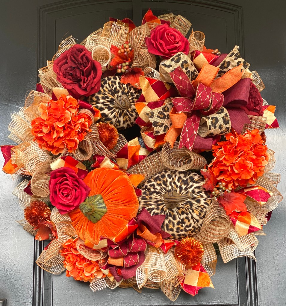 Learn to Make a Fall Wreath with Deco Mesh