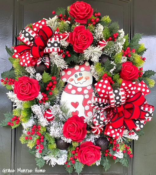 Winter Wreath with Snowman