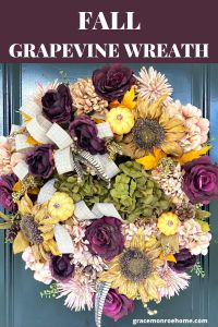 Make a Fall Wreath with Purple Roses