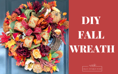 DIY Fall Front Door Wreath