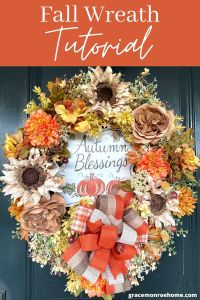 Learn how to make a beautiful fall wreath