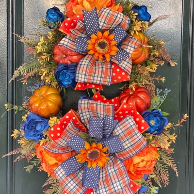 Designer Fall Wreath for Door