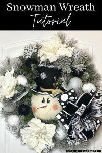 Black & White Snowman Wreath Tutorial