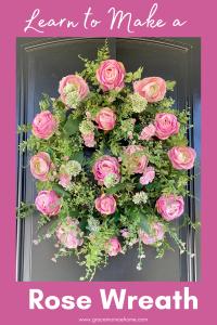 Pink Roses Wreath Tutorial