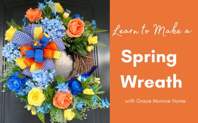 DIY Spring Front Door Wreath