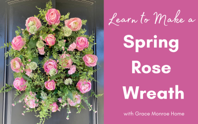 DIY Rose Wreath