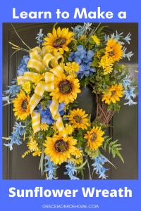 Make a Summer Sunflower Wreath for Your Door