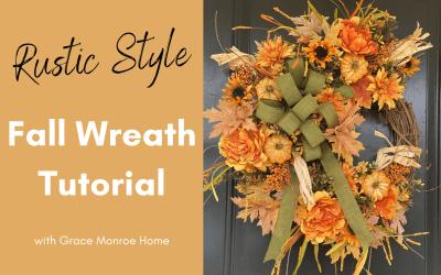 DIY Rustic Fall Wreath Tutorial
