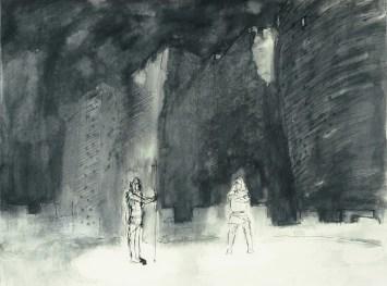 Grace Renzi : N° 110 : 1960's, black watercolor