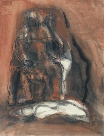 Grace Renzi : N° 115 : 1960's, black ink + watercolor