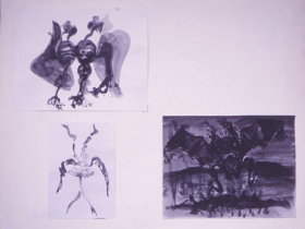 Grace Renzi : N° 121 : 1971/72, twice 30 x 25 cm. and once 25 x 15 cm.