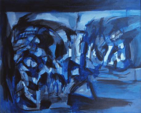 Grace Renzi : N° 143 : 1972, acrylic on canvas, 60 x 75 cm.