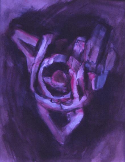 Grace Renzi : N° 159 : 1974, watercolor, black ink, 30 x 25 cm.