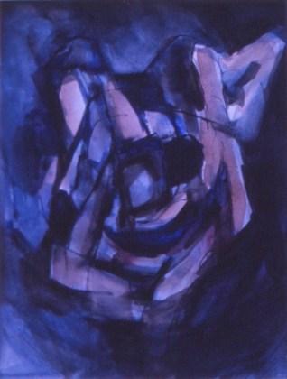 Grace Renzi : N° 170 : 1975, black ink, watercolor, 30 x 25 cm.
