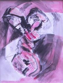 Grace Renzi : N° 172 : 1975, black ink, watercolor, 30 x 25 cm.