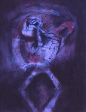 Grace Renzi : N° 177 : 1975, black ink and acrylic on paper, 32 x 25 cm.