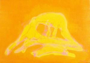 Grace Renzi : N° 182 : 1976, acrylic on canvas, 30 x 50 cm.