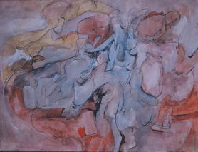Grace Renzi : N° 26 : 1952, watercolor on paper, 30 x 50 cm.