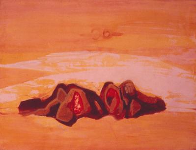 Grace Renzi : N° 261 : 1980, acrylic on paper, 50 x 65 cm.