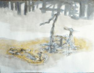 Grace Renzi : N° 271 : 1983, oil on canvas, 75 x 92 cm.