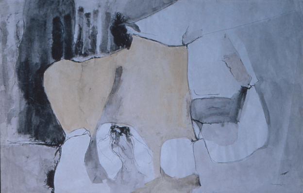 Grace Renzi : N° 32 : 1957, ink on paper, 47 x 74 cm.