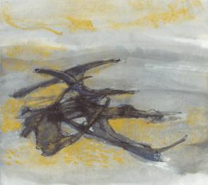 Grace Renzi : N° 320 : watercolor on paper, 24 x 27 cm.