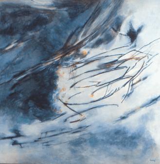 Grace Renzi : N° 357 : 1998, oil on canvas, 138 x 138 cm.