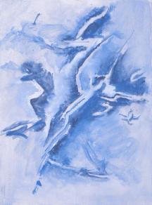 Grace Renzi: N° 369 : 1993, acrylic on paper, 38 x 28,5 cm. Photo by Gérard Dufrêne.