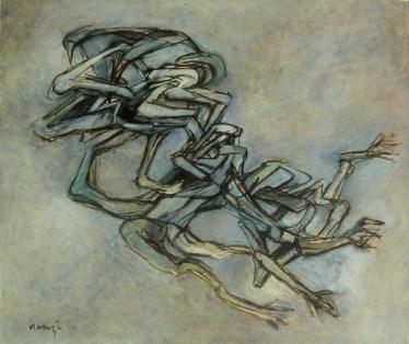Grace Renzi : N° 41 : 1960/61, oil on canvas, 100 x 140 cm.