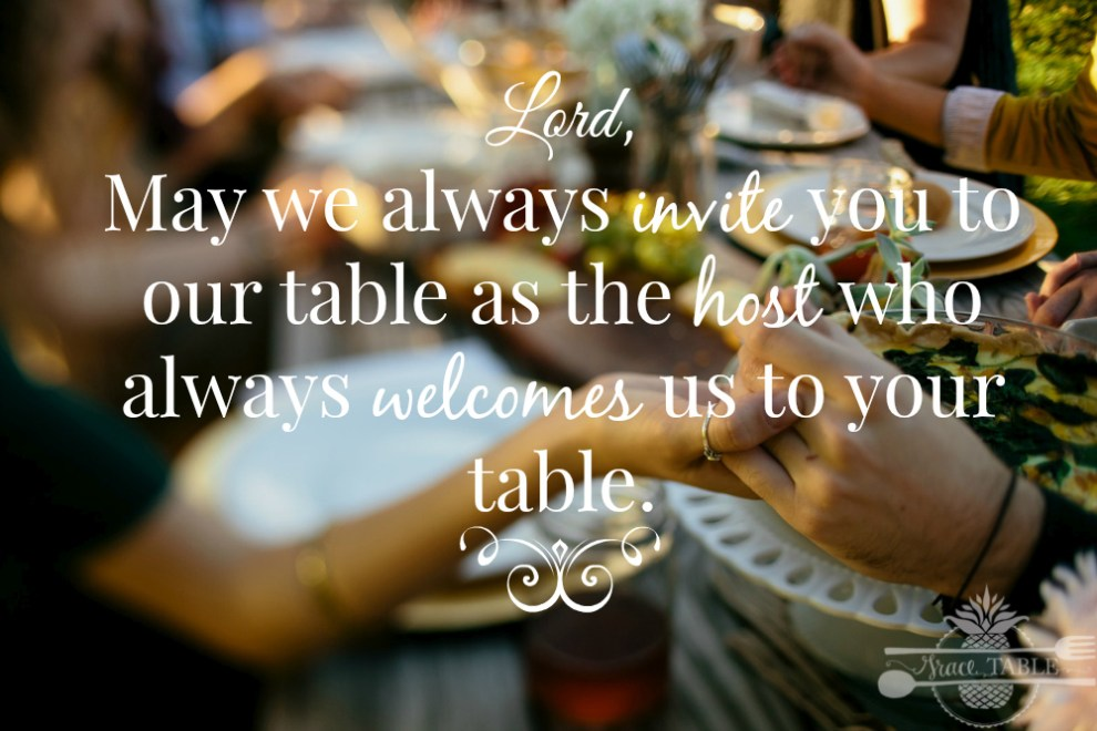 prayers at the table