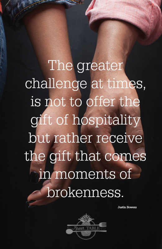 receive hospitality