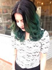 green hair grace create