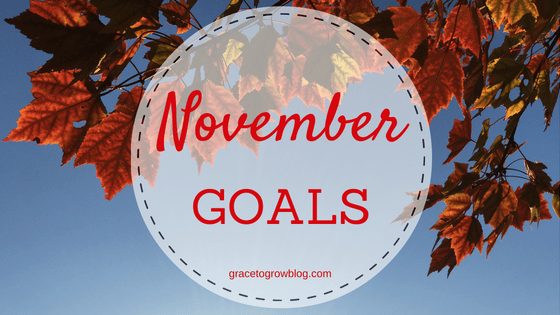 November Goals || Grace to Grow Blog