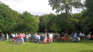 outdoor service at Grace