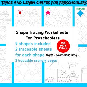 Shape tracing worksheets pdf