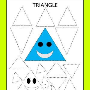 triangle tracing worksheet preschool