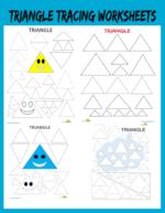 Triangle tracing worksheets preschool free