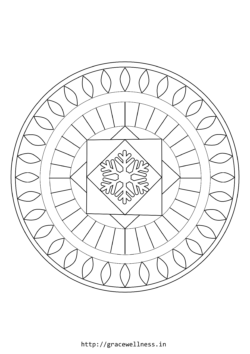 mandala coloring pages free