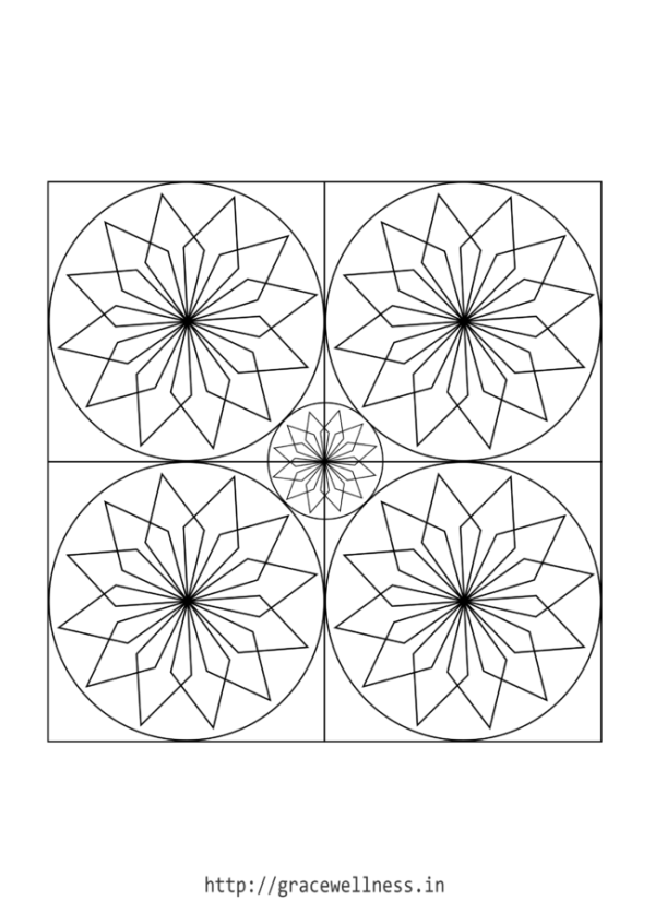 star design coloring pages adults free