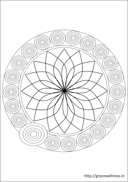 coloring pages for adults mandala