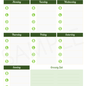 meal planner with shopping list