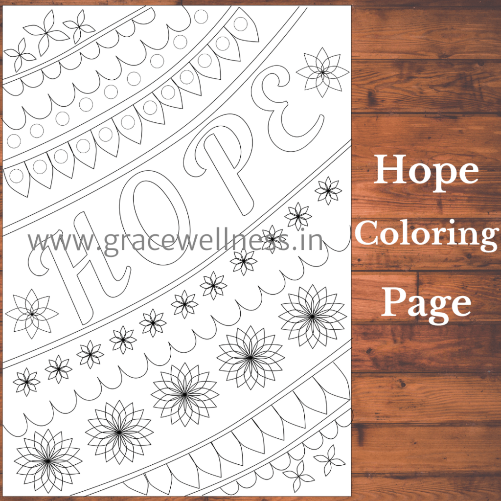 hope coloring pages pdf download