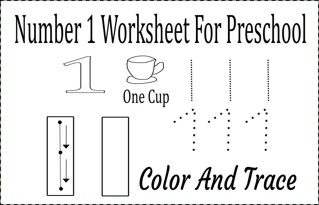 number 1 worksheet preschool