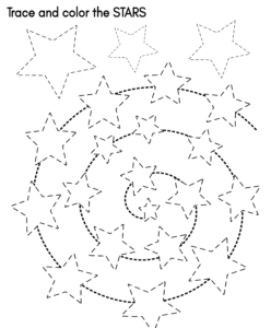 star tracing worksheet preschool free