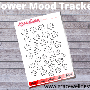 flower mood tracker printable pdf