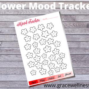 flower mood tracker printable pdf