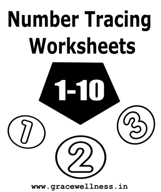 number tracing worksheet 1-10