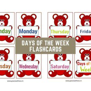 days of the week for kindergarten pdf