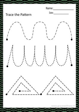 pencil control tracing worksheet