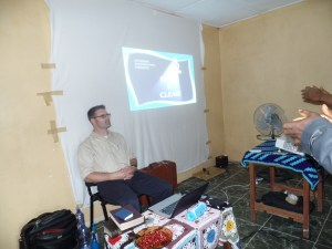 Teaching at our second workshop in Monrovia